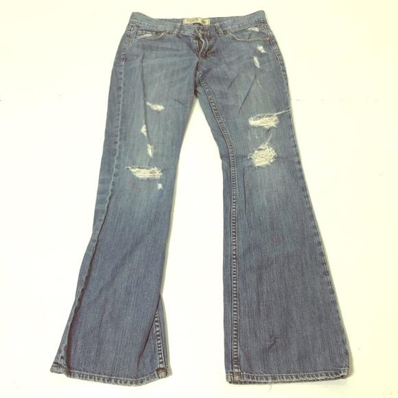 PINK Victoria's Secret Denim - VS Pink Size 6 Short Destructed Bootcut Jeans